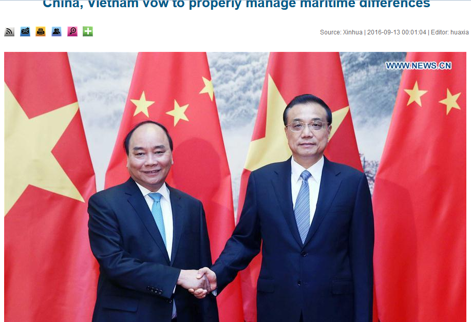 China, Vietnam vow to properly manage maritime differences
