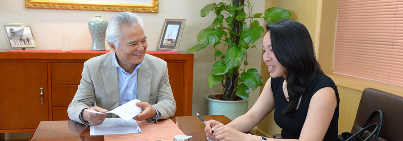 NISCSS President Wu Shicun met with Anny Vu