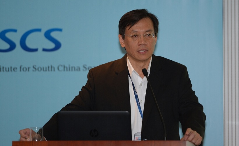 Liu Fu-kuo delivering keynote speech
