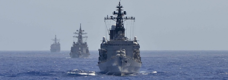 US Navy send ships through the Taiwan Strait for the third time this year