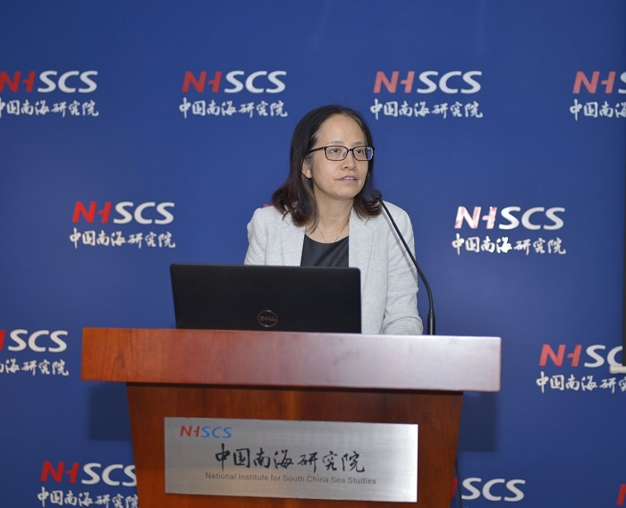 Research Fellow of the Center for Maritime Economy at the NISCSS delivered a welcome remark.jpg